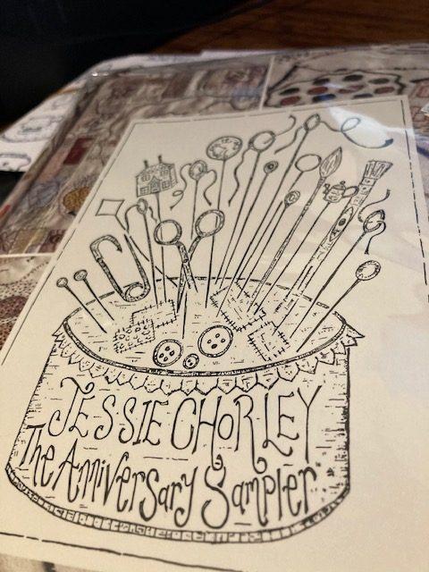 Jessie Chorley anniversary sampler kit card