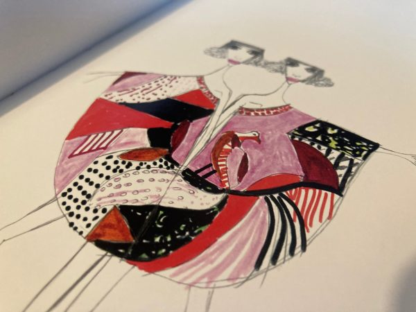 Fashion Print Design by Angel Fernandez and Daniela Santos Quartino - illustration example