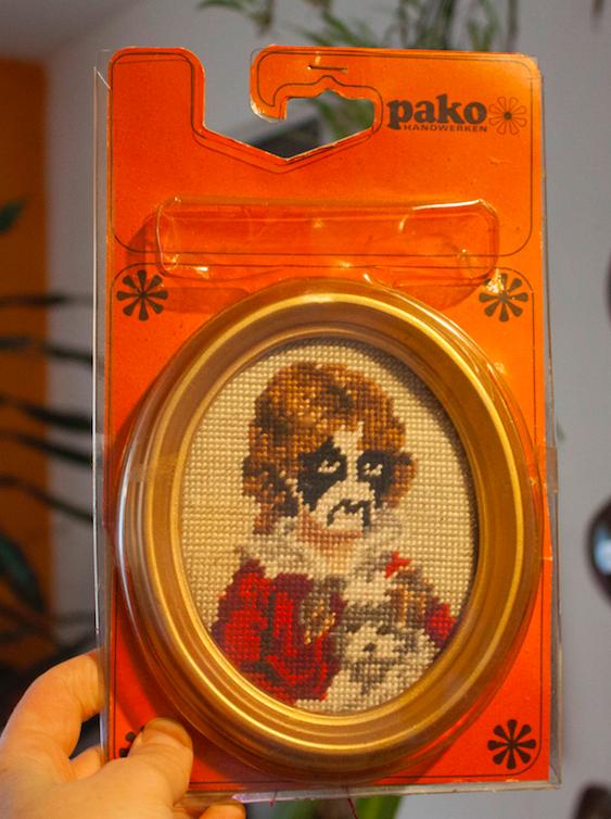 Careless Stitcher pako cross stitch piece